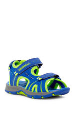 NIB Merrell Boy's Youth 2 Panther Sandals Blue Lime Green Summer Shoes