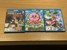 Wii U Games Bundle - Minecraft, Mario Kart 8, Kirby and the Rainbow Paintbrush