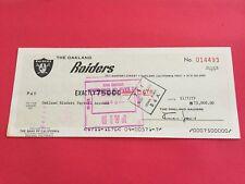Al Davis Raiders HOF Check Signed Auto JSA Certified Letter LOA