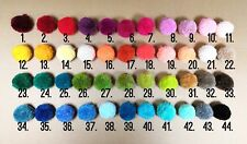 1 Pair Yarn Wool Pom Pom Shoe Clips Fluffy Heels Boots Charm ~ Over 40 colours