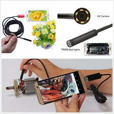 2in1 Universal 7mm 5M Car Autos 6LED HD USB Android Endoscope Inspection Camera