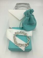 "NWT Tiffany & Co. Sterling Silver Round Clasping End Links Medium 7.5"" Bracelet"
