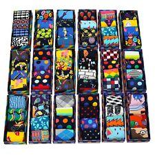 Mens Ex Happy Socks 4 Pairs Boxed Colourful Cotton Randomised Socks Size 7-11 UK