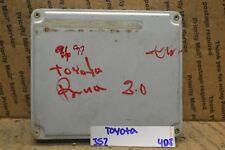 1997 Toyota Previa Engine Van Control Unit ECU 8966128790 Module 352-4D8