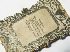 More details for delicate victorian silk & pierced paper birthday card a/f
