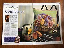 Pansy Needlepoint Cushion Chart **from a magazine**