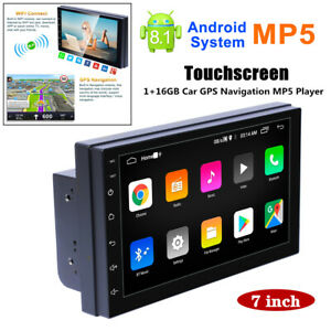 7'' Screen Car Android 8.1 GPS Navigation USB Radio FM MP5 Player IOS/Android