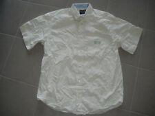 Chemise 15 SERGE BLANCO à carreaux beige taille L à manches courtes