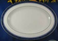 "Royal Doulton St Andrews BLUE MARBLE Oval Serving Platter 14 1/2"" Bone China EXC"