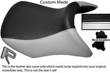 WHITE AND BLACK CUSTOM FITS BMW R 1200 RT FRONT REAL RIDER LEATHER SEAT COVER