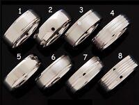 New Solid Titanium Mens Ring Grade 5 Choose Design & Size Trendy Wedding Band