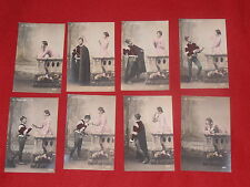 LOT DE 8 CARTES POSTALES FANTAISIE SERIE LE PASSANT SCENES DE SEDUCTION  CHARME