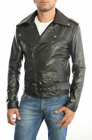 Chiodo Giacca Giubbotto in di Pelle Uomo Men Leather Jacket Veste Homme Cuir 17s