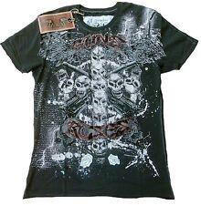 Amplified Saint & sinner Guns N 'Roses pedrería Cross Skull' s VIP Wow t-shirt G. L/XL