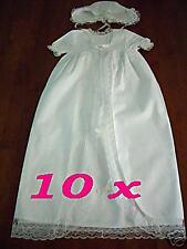 BULK LOTS 10 x Baby Lace Christening Gown Dress Bonnet
