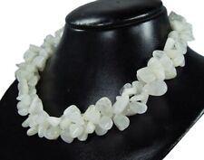 Wunderschöne Halskette aus dem Edelstein Mondstein in Form großer Splitter