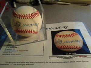 Ted Williams Signed Autograph Baseball W/ Case Red Sox JSA BB00245 Bobby Brown