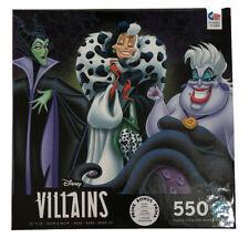 Ceaco 550 Piece Jigsaw Puzzle Disney Villains Cruella de Vil Ursula Maleficent