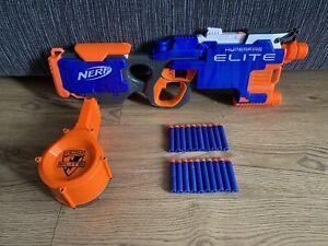 Nerf N-Strike Elite Hyper Fire Blaster Gun Drum Mag And 20 Darts Ammo