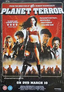 PLANET TERROR Original 2007 UK video store poster Rose McGowan Freddy Rodrigues