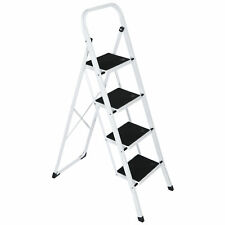 4 Steps Ladder Folding Anti Slip Safety Tread Industrial Use 300lbs Load Durable