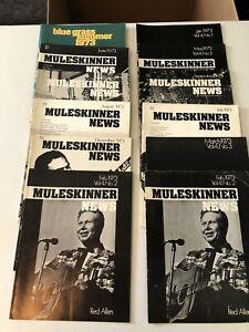 Lot of 12  MULESKINNER NEWS Bluegrass magazines 1973
