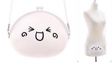 LB-45-1 Onigiri Emoji Gesicht Silikon weiß Pastel Goth Harajuku Tasche Japan