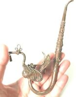 Collectible Vintage antique handle brass pipe old design Handmade from Thailand