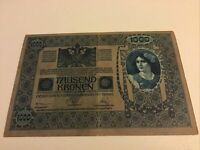 Austrian Banknote. 1000 Kronen. 1919 Series. Pick 59. Vintage Note.