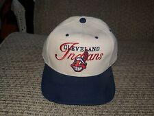 Cleveland Indians Vintage Snapback baseball cap Hat banned Chief Wahoo logo Rare