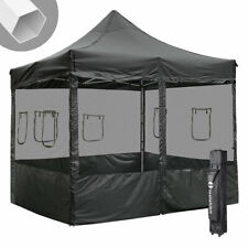 Commerical 10x10 ft Pop Up Canopy Tent w/Sidewall Mesh Instant Trade Vendor Show