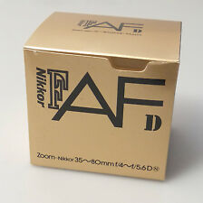 (PRL) NIKON SCATOLA VUOTA OBIETTIVO ZOOM NIKKOR 35-80 mm f/4-5.6 D EMPTY BOX