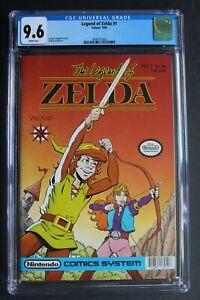 LEGEND OF ZELDA #1 Valiant Nintendo 1990 $1.95-c Comics 1st Print CGC NM+ 9.6
