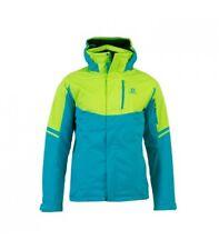 Salomon Rise Ski jacket men's LARGE Blue/Green RRP £219.99