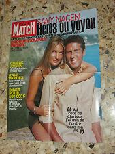 AFFICHE POSTER PUBLICITE PARIS MATCH 2001 SAMY NACERI ET CLARISSE