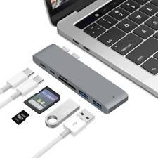 USB-C Hub Thunderbolt 3 USB 3.0 Type-C Adapter Card Reader Macbook Pro 6 in 1