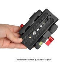 Aluminum alloy Black Quick Release Plate for Tripod Head DSLR Video Camera U8