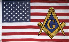 3x5 USA Mason Flag Freemason Masonic American Flag Top Quality USA SELLER