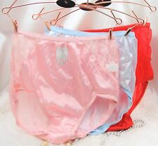 VTG style High Cut NYLON SIDE lace SISSY panties sz 5 6 7 8 Choose COLOR