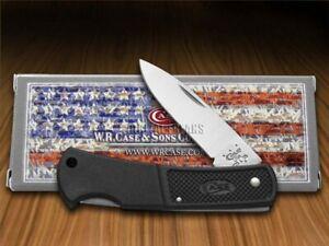 Case xx Lightweight Black Zytel Small Lockback Pocket Knife Stainless 156 Knives