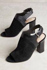 69ddcf51f0 NEW Anthropologie Caleres Fae Peep Toe Shooties Size 9.5 Black Open Toe  Heels