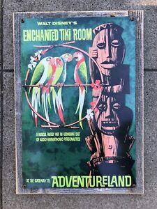 Enchanted Tiki Room Cocktail God Disneyland Disney Vintage Poster Steel Sign