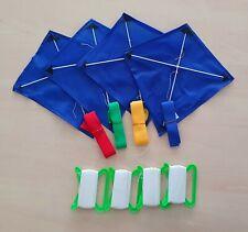 Flugdrachen Blau für Kinder mit 80m langer Schnur - spielend LERNEN Spielzeug
