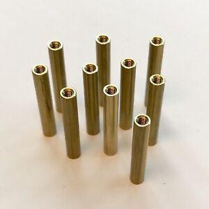 "(PKG of 10) Standoff, 3/16"" Round, F-F, 4-40, 1.2"" L, Brass"