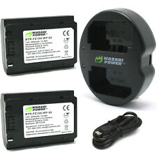 Wasabi Power Battery (x2) and Dual Charger for Sony NP-FZ100, BC-QZ1 and Sony a9