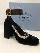075ea056316  750 New Prada Womens Blue Shoes Heels Ladies Pumps Size 8 US 38 EU