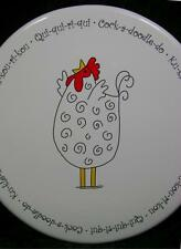 Rooster Ceramic Wall Plaque Plate White Black Red Crow in Different Lanquages