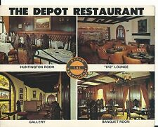 Vintage Postcard - The Depot Restaurant Visalia, CA - Oak at Church Downtown