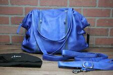 'Daffodil' Leather Tote DAY & MOOD Blue Hand Bag Women's Slouchy Leather