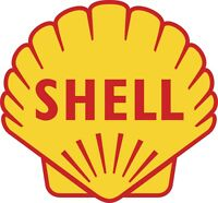 "Shell Oil Gasoline Color Vinyl Decal Sticker - You Choose Size 2""-28"""